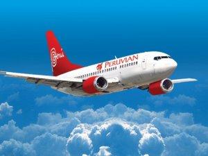 Peru Havayolları'na ait uçağın iniş takımları kırıldı