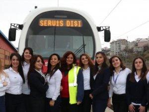 Samsun'da tramvaylar kadınlara emanet