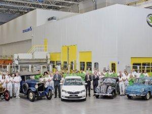 121 yıllık Skoda'dan 19 milyonuncu araç