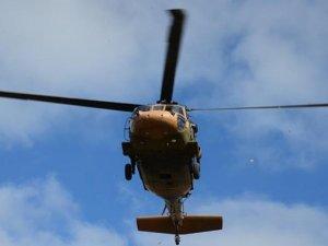 Irak'ta helikopter düştü