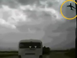 Afganistan'da kargo uçağı böyle düştü